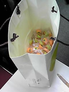大阪電気通信大学の講座で配られた飴の残り物
